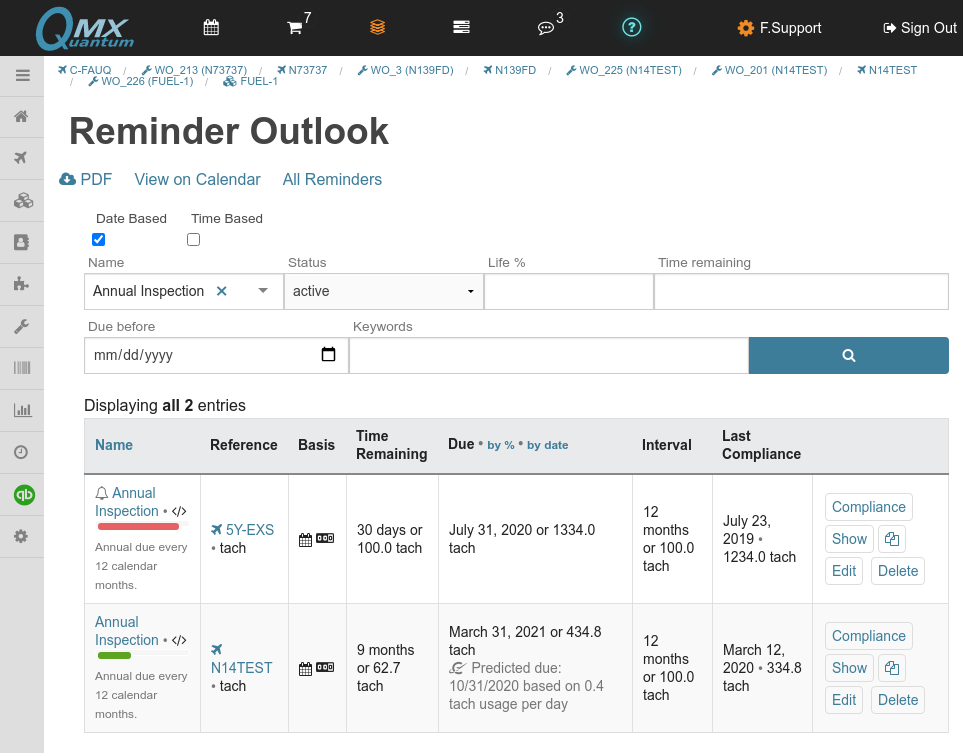 QuantumMX Reminder Outlook Reporting